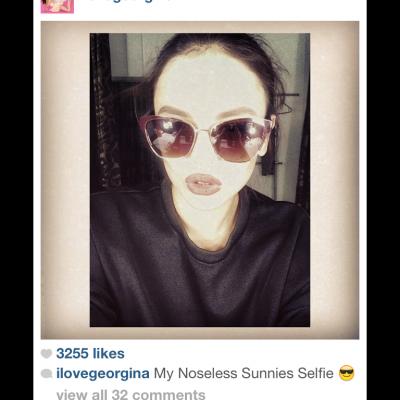 Georgina Wilson's Sunnies Selfie