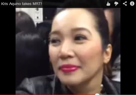Kris Aquino takes MRT