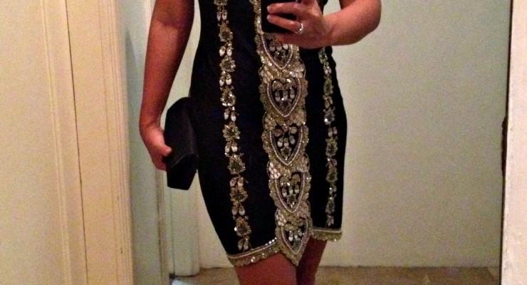 OOTS: Beaded Black Dress