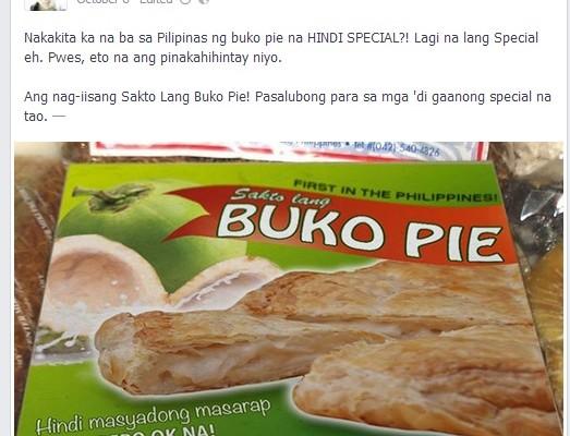 Ang Buko Pie na Hindi Special