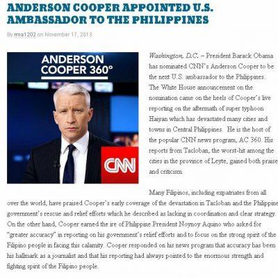 Korina Sanchez vs. Anderson Cooper