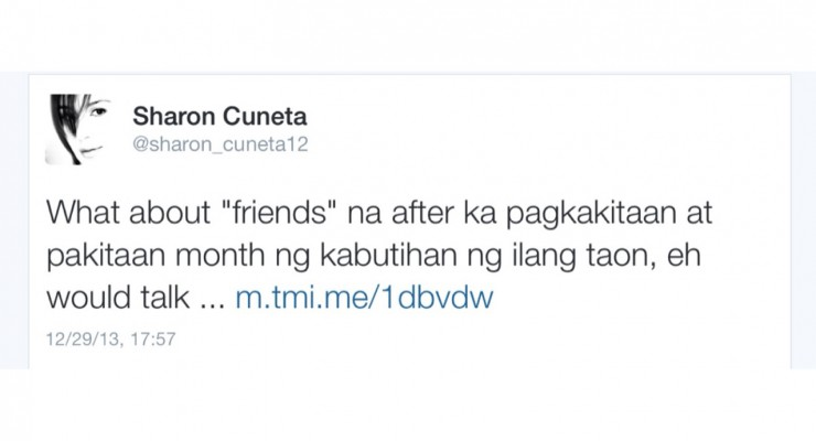 Sharon Cuneta Tweets Again!!