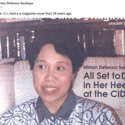 Sen. Miriam's TBT photos