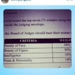 Criteria for Judging