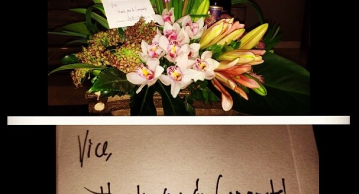Sen. Trillanes Sends Flowers to Vice