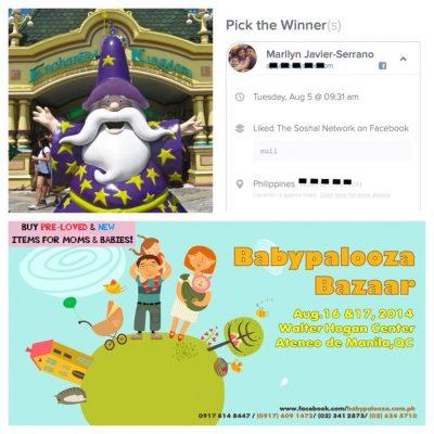 Enchanted Kingdom x Babypalooza Giveaway Winner
