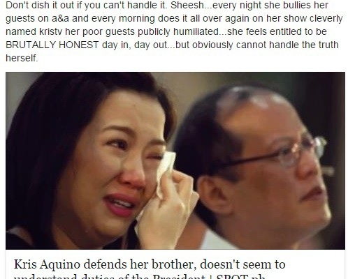 Jerika Ejercito v. Kris Aquino