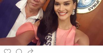 Pia Wurtzbach Meets Pres. Duterte