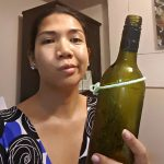 DIY Wine Bottle Chandelier Fail