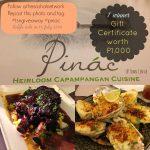 Heirloom Capampangan Cuisine at PINAC