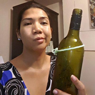 DIY Wine Bottle Chandelier Fail